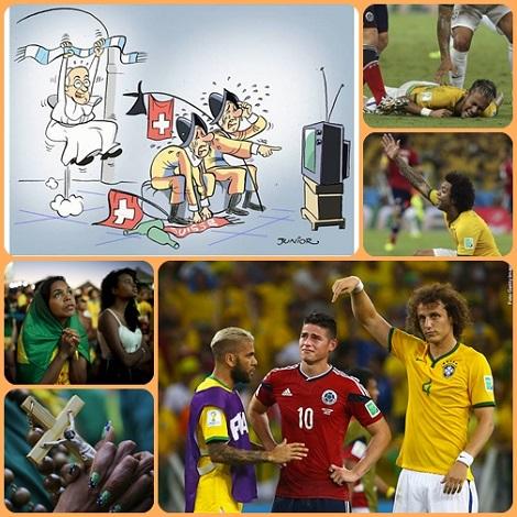Mondiali di calcio - Brasil 2014 - Il volto bellodel calcio: la solidarietà al compagno infortunato; l'onore reso all'avversario sconfitto; la preghiera per i propri eroi e come il mondo ha immaginato la vittori dell'Argetina sulla Svizzera.