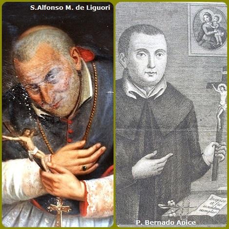 P. Agostino Saccardi, redentorista nativo di Castellammare di Stabia, rimase conquistato dalla santità di Alfonso de Liguori (ritratto locale del Santo) e quella del suo compaesano P. Bernardo Apice di cui scrisse la vita.