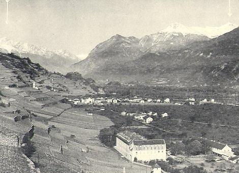 La Casa redentorista di Uvrier in Svizzera nel 1907: qui consumò la sua vita il P. Francesco Regis Sanglard che vi morirà nel 1929.