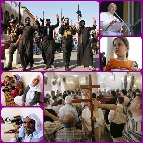 L'odio degli integralisti islamici si è abbattuto con inaudita ferocia sui cristiani del Medio Oriente. Basteranno gli accorati appelli di Papa Francesco a salvare tante vite umane? L'Occidente riuscirà a trovare una risposta adeguata?