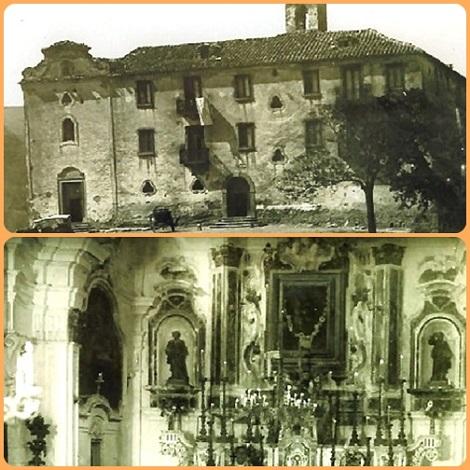 Antiche foto della Casa e chiesa della Consolazione in Deliceto (FG), dove nel 1866 consumò la sua vita di redentorista il Fratello Gaetano Cerulli, che era nativo del luogo.