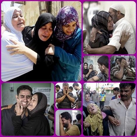 """Tragedia di Gaza = I media, in genere, preferiscono soffermarsi sulla estrema sofferenza che si abbatte sui bambini di questa regione, mentre il dolore e la disperazione di padri e madri sembrano passare in secondo piano: perdere la casa, i figli, la famiglia. """"O Dio, accogli questo dolore e trasformalo in vita, anche quella eterna""""."""