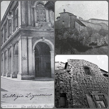 L'Aquila – Chiesa e Casa redentorista dove fu rettore P. Beniamino De Simone fino alla soppressione. Egli si ritirò in famiglia, dove morì da buon redentorista nel 1869.