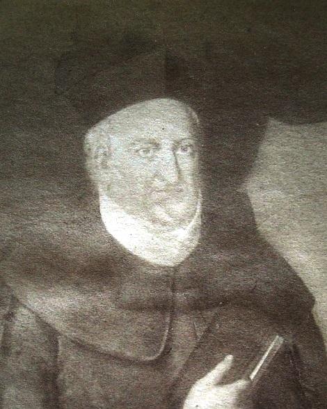 Antica foto del ritratto del P. D. Pasquale Melchionda che oggi non si trova più. Era originario di Serre in provincia di Salerno.