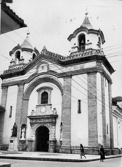 Popayán, Valle del Cauca – Colombia 1959 – Chiesa redentorista dedicata a San Giuseppe. Qui morì nel 1928 il  P. Abele Buys.  (foto in AGHR).