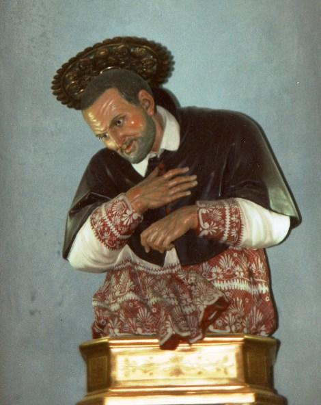 Il bellissimo busto di S. Alfonso dello scultore Citarella che si trova nella chiesa parrocchiale di Marianella, accanto alla casa dove nacque il Santo.
