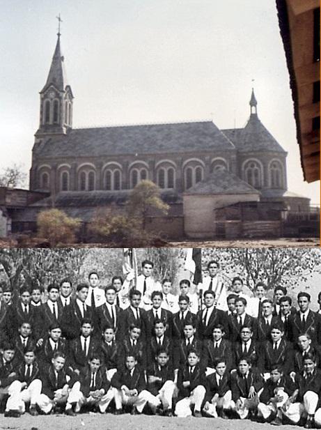 Foto = San Bernardo (Cile). La chiesa redentorista e gli alunni della scuola assistita dai Redentoristi. Il P. Louis Capron ebbe una feconda vena di scrittore di opere catechetiche che seguiva anche personalmente. Mori a San Bernardo nel 1914.