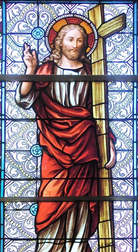 Bischenberg (Francia) - La luminosa vetrata con il SS. Redentore. Fratello Pierre Jérôme fu attratto dal carisma redentorista e bussò alla porta della comunità di Bischenberg per essere accolto.