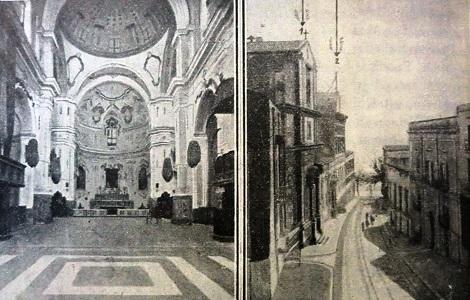 Sciacca (AG) Antica foto della chiesa e della casa dei Redentoristi. Sciacca fu la patria del P. Vincenzo Farina, insigne studioso naturalista, che vi morì nel 1875.