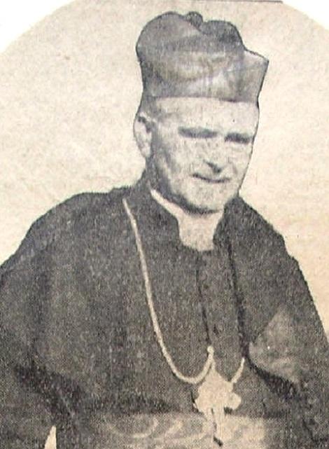 Mons. Salvatore Silvestris, redentorista nativo di Bisceglie (BA), fu eletto Vescovo di Conversano dove morì «in concetto di santità» il 14 febbraio 1879, a 64 anni (foto da un ritaglio di giornale del tempo, incollato nelle Cronache di Schiavone).