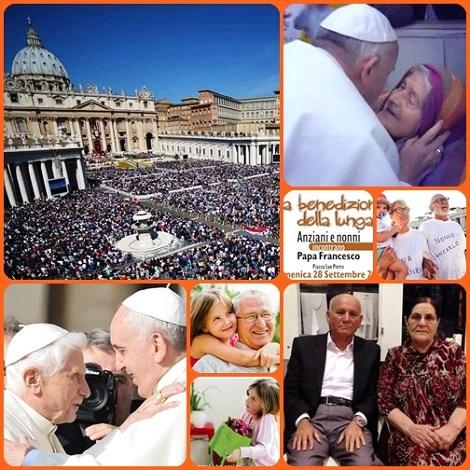 Ad un mondo che naviga tra guerre, odi e violenze, la festa dei nonni celebrata da Papa Francesco in Piazza San Pietro ha ridato una boccata di aria pulita e colma di speranza.