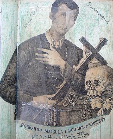 Antica immagine di Fratello Gerardo Majella proposto quale modello di Fratello Coadiutore redentorista e di cui fratello Alfonso Rocco fu imitatore.