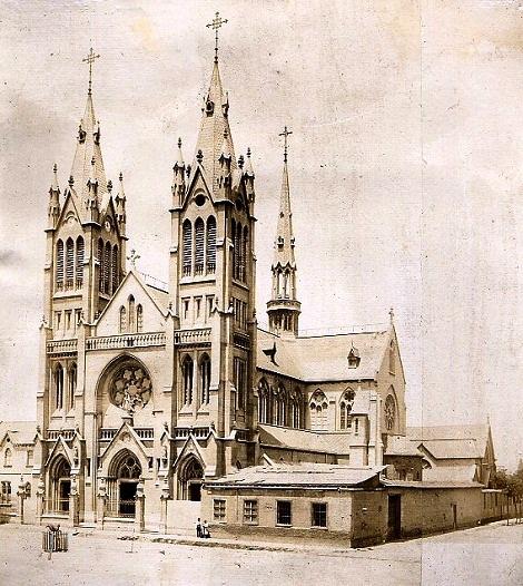 Santiago del Cile. La chiesa redentorista nel 1919: fu campo di apostolato del P. Agostino Vargas, che vi morì nel 1916.