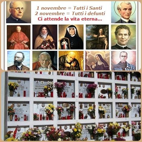 L'inizio di novembre è caratterizzato dalla Solennità di Tutti i Santi e dalla Commemorazione di Tutti i Fedeli defunti: due appuntamenti solenni con l'eternità beata!