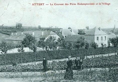Attert (Belgio) - La Casa redentorista in una vecchia cartolina postale. Qui morì nel 1903 il P. Michel Ulrich, caro al Rev.mo Padre Mauron, vicino al quale condusse una vita di lavoro infaticabile e di assoluta dedizione.