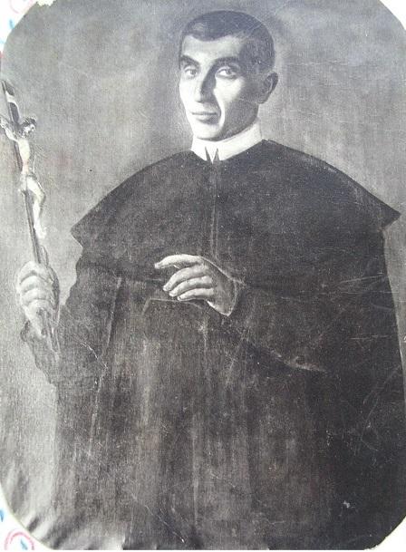 Ritratto fotografico del P. Potito De Sanctis, originario di Castelgrande (PZ) e fratello del servo di Dio Nicola De Sanctis. Morì nel 1894.