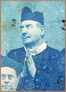 P. Luigi Giordano, redentorista originario di Corbara (vicino Pagani), nella foto di gruppo dei Missionari che tennero la Missione a Valle di Pompei nel 1892, un anno prima che egli morisse.