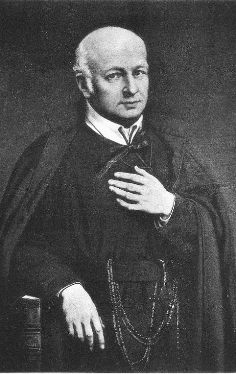 Riproduzione in bianco e nero del ritratto del P.  Francesco Antonio De Paola, opera del pittore Windahausen H. Jr. (raccolta Marrazzo).