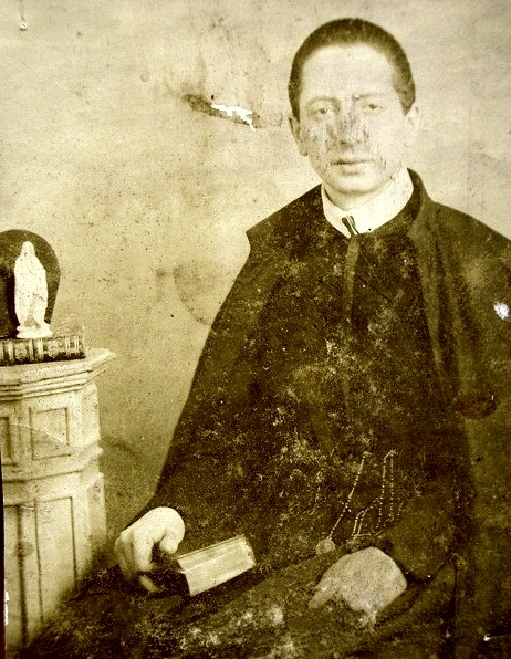 Ritratto fotografico del P. Tommaso Aquino, redentorista nativo di Atripalda, morto da missionario sul campo nel 1900, mentre era in predicazione missionaria a Siano (SA).
