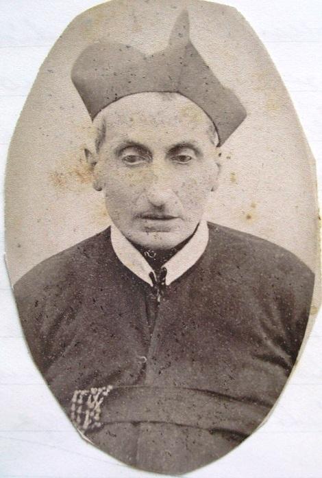 Ritratto fotografico del P. Luigi Orlando. Aveva un fratello, anche lui redentorista, che lo assistette in morte nel 1898.