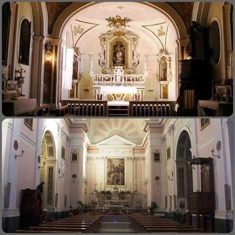 Chiese redentoriste di S. Agelo a Cupolo e Ciorani: nella prima il giovane novizio Pasquale Cardillo si incamminò nella sua vocazione, nella seconda consumò la breve esistenza nel 1899 a 21 anni.