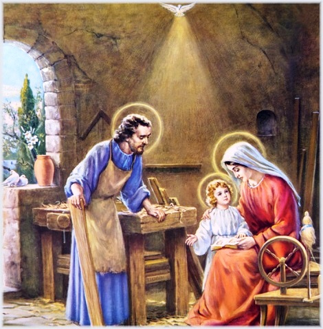 """""""Gesù, Maria e Giuseppe, a voi, Santa Famiglia di Nazareth, oggi, volgiamo lo sguardo con ammirazione e confidenza; in voi contempliamo la bellezza della comunione nell'amore vero; a voi raccomandiamo tutte le nostre famiglie, perché si rinnovino in esse le meraviglie della grazia"""" (Papa Francesco)."""