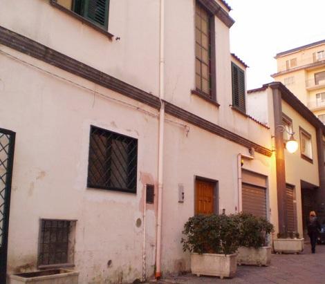 Angri (SA). Sezione dell'attuale Via Padre Leone, con la ex Casa redentorista, dove nel 1904 finì la sua vita il P. P. Giuseppe Abbatelli.