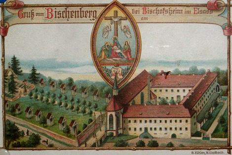 Bischenberg (Francia). Antica stampa del complesso monastico. Qui il P. Antoine Schmitt fu Maestro dei Novizi redentoristi.