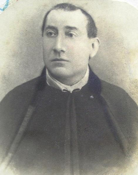 Ritratto fotografico del P. Giuseppe De Feo, redentorista originario di Calabritto (AV), morto a Marianella nel 1902 per un attacco di trombosi.