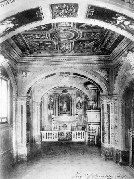Marianella (Napoli). Antica foto della chiesetta nella Casa natale di S. Alfonso. Il P. Benvenuto D'Ambrosio, originario di Deliceto, vi morì da rettore nel 1905.