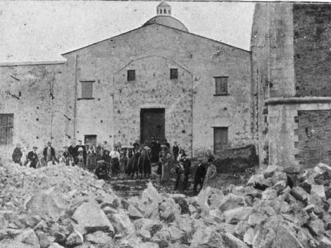 Materdomini (AV). Lavori iniziali per la basilica dedicata al santo fratello Gerardo. Qui fu ricevuto il fratello Antonio Salerno che dopo una vita di lavoro morì nel 1905 a Napoli.