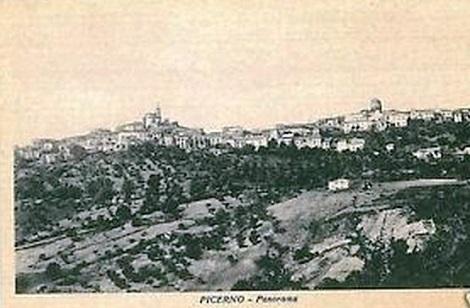 Picerno (PZ). Antica cartolina della cittadina, dove nacque il giovane redentorista Antonio Barbarito che morì di tisi a Pagani (SA) nel 1906.