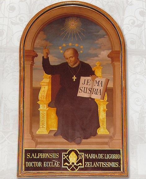 S. Alfonso: lo studio e la preghiera; tutto nel nome di Gesù e di Maria.