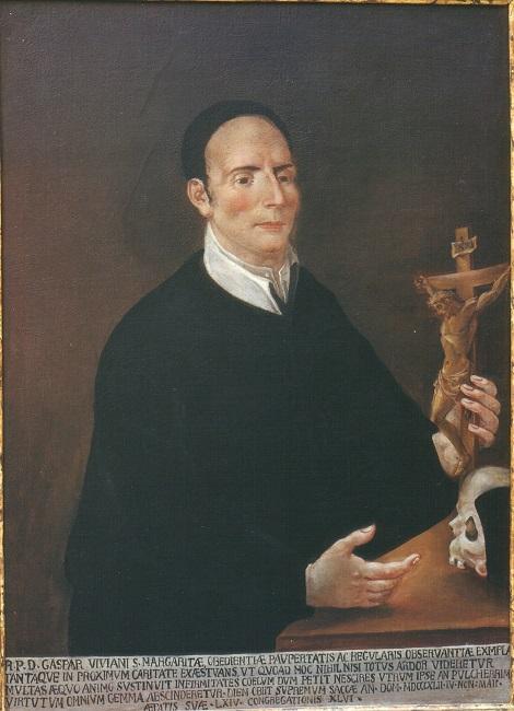 Ritratto del redentorista P. Gasparo Viviano, originario della Sicilia e morto a Tropea nel 1842.