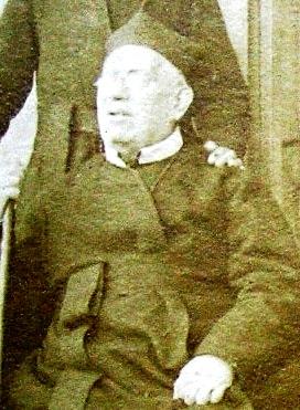 P. Francesco di Paola Faleo on una foto del 1892. Originario di Foggia, morì in Angri nel 1913.