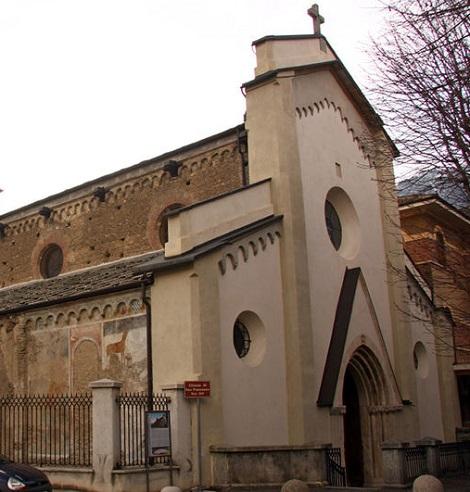 La chiesa di San Francesco a Susa (Italia), dimora temporanea dei Redentoristi francesi dal 1907 al 1921. Nel 1918 vi morì il P. Joseph Déchavanne.