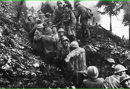 Alture della Bainsizza 1917 – Il giovane fratello redentorista Alfonso Salerno morì nell'assalto per la riconquista della posizione nel mese di settembre.