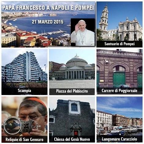 La visita di Papa Francesco  a Pompei e a Napoli ha portato nuovi stimoli di speranza di un futuro di pace e legalità