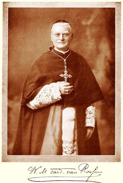 Ritratto fotografico del P. W. Van Rossum, redentorista olandese, creato Cardinale Diacono il giorno 27 novembre 1911; nominato Penitenziere Maggiore il 1° ottobre 1915, e promosso Cardinale Presbitero il 6 dicembre 1915.