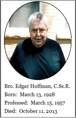 Il redentorista Fratello Edgar Hoffman (1928-2013) della Provincia di Edmonton-Toronto in Canada.