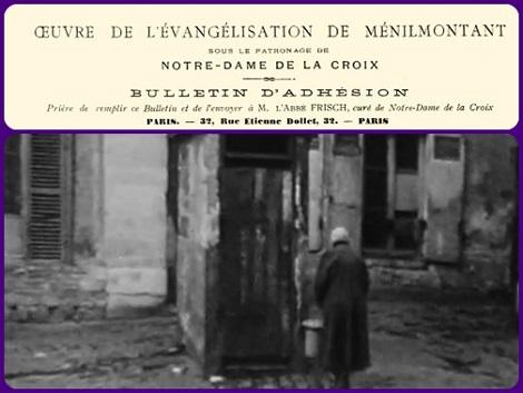 La povertà del quartiere parigino di Ménilmontant chiamò i Redentoristi a fare opera di evangelizzazione e sociale. P. Albert Quignard fu in prima linea.