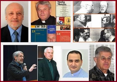 La foto mostra un gruppo di Professori dell'Accademia Alfonsiana in Roma, non essendo disponibile una foto del P. Peter Lippert, C.Ss.R. della Provincia di Colonia  in Germania, e già professore alla stessa Accademia.