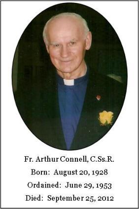 Il redentorista P. Arthur Connell, C.Ss.R. (1928-2012) della Provincia di Edmonton-Toronto in Canada.