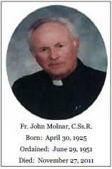 Il redentorista P. John Molnar, C.Ss.R. (1925-2011) della Provincia di Edmonton-Toronto in Canada.
