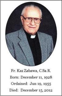 Il redentorista P. Kazimierz Zabawa, C.Ss.R. (1928-2012) della Provincia di Edmonton-Toronto in Canada.