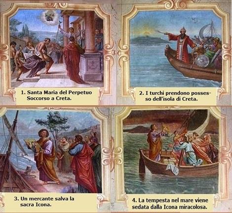 La storia dell'Icona del Perpetuo Soccorso in quadri che ornano la bella chiesa di Puchheim in Austria. Le foto sono state raccolte sul web ed elaborate da P. Salvatore Brugnano.