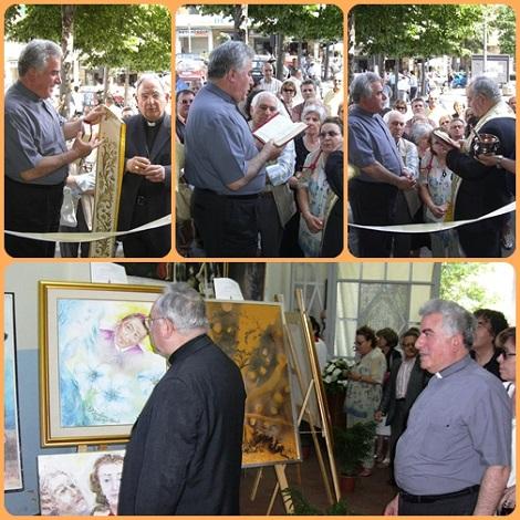 Pagani - Momenti della inaugurazione della Mostra Alfonsiana nel 2009 con mons. Michele de Rosa.