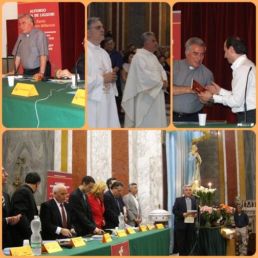 """Momenti del Convegno su S. Alfonso """"Un santo per il terzo Millennio"""", organizzato e guidato da P. Giovanni Vicidomini."""