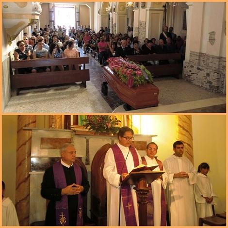 La preghiere di suffragio per Padre Mosè Simonetta a Filogaso (VV).