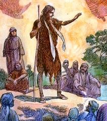 Giovanni Battista predica il perdono dei peccati.